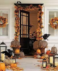 y fall front porch display