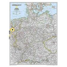 germany wall map national geographic