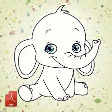 Small Picture 99 ideas Coloring Pages Of Baby Elephants on cleanrrcom