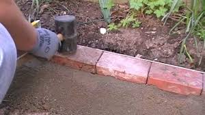brick garden edging. laying a block edge course brick garden edging n