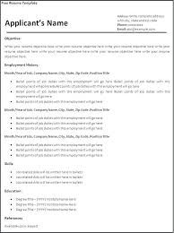 Easy Resume Template Free Resume Outline Example Simple Resume