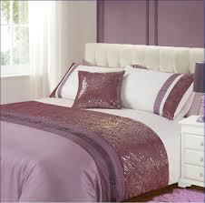 purple white colour modern stylish sequin bedding duvet quilt cover set