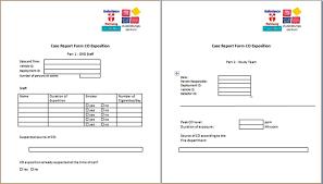Case Report Form Co Carbon Monoxide Ems Emergency