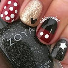 Possibly This One Only Red Wwhite Polka Dots On All Fingers Except