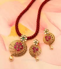 gold pendant set from manubhai jewellers