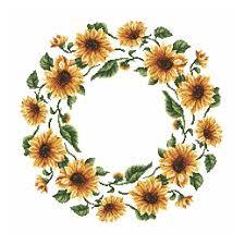 Cross Stitch Pattern Napkin Sunflowers
