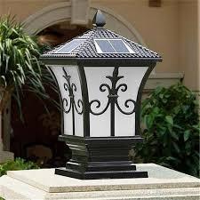 whole solar power led post lights super bright outdoor waterproof garden lights led solar lights home post pillar lamps outdoor villa deck yard by