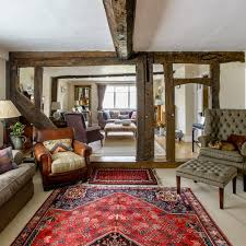 english country living room. double-length country living room english o