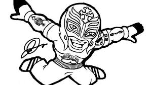 Wwe Coloring Pages Rey Mysterio Coloring Wwe Coloring Pages