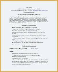 Dance Resume Inspiration Dance Resume Template Dancer 60 Free Word Documents Ballet Cv