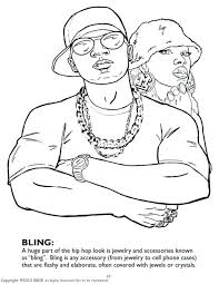 Gangster 7 Characters Printable Coloring Pages Gangster Coloring