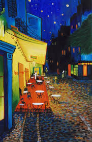 vincent van gogh painting vincent van goghs a cafe terrace at night by don parker