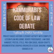 hammurabi s code teaching resources teachers pay teachers  hammurabi code of law debate 6 8