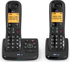 bt xd56 cordless phone with answering machine twin handsets