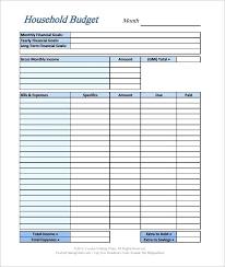 Budget Sheet Free Printable Free Printable Yearly Budget Template