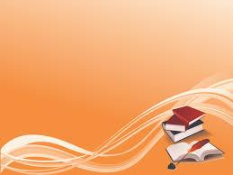 Powerpoint Bg Books On Orange Bg Ppt Backgrounds Books On Orange Bg Ppt