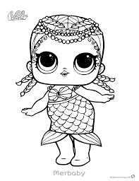 Mermaid Lol Surprise Doll Coloring Pages Merbaby Free Printable