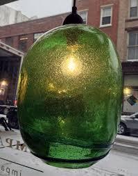 hand blown lighting. hand blown handblown recycled green glass pendant light large from bali lighting