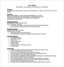 Resume Template Pdf Impressive Free Resume Templates Pdf New Business Resume Template Free
