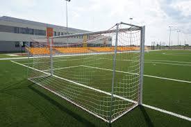 grass soccer field with goal. Grass Structure Sport Game Soccer Football Stadium Goal Player Baseball Field Tennis Court Arena Net Match With