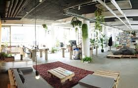 green office interior. Sustainable Office Interior Green R