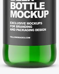 Liquor bottle design mockup to present any designs in style. Green Beer Bottle Mockup In Bottle Mockups On Yellow Images Object Mockups
