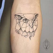 Coruja Geométrica Polygon Owl More Tattoos Tetování