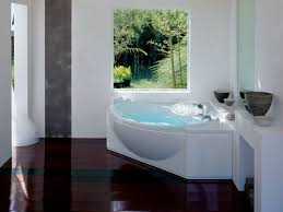 White Corner Fiberglass Bathtub