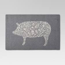 grey kitchen rugs. Kitchen Rug Pig - Threshold™ Grey Rugs G