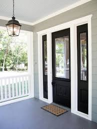 White Door Black Trim Diy Lessons Learned Painting My Front Door Black Painted Front