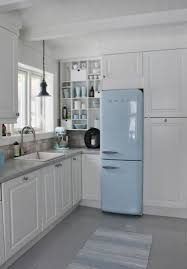 Light Blue Kitchen Unbelievable Retro Refrigerator Smeg Light Blue Kitchen Design