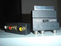 scart multi av 2 channel audio s video and cvbs scart adaptors input output signal switch