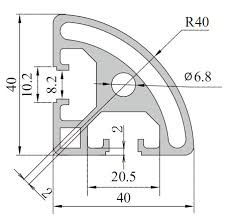 40 series,Aluminum Profile,T Slot Aluminum Profile System