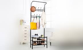 Coat Stand And Shoe Rack Up To 100% Off Vivo Coat Stand with Shoe Rack Groupon 100