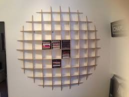 cds furniture. wall shelves for cds round shape floating furniture antique design thin strong wooden material long brown