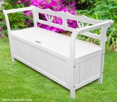 white garden bench. Wonderful White White Garden Bench Storage To B