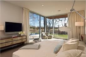 modern bedroom with tv. Modern Wall TV In Bedroom With Tv N