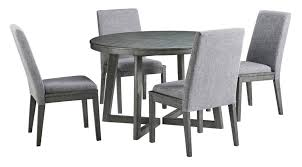 gray round dining table set furniture round dining set in dark grey distressed gray dining table