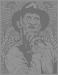Horror freddy krueger | Halloween - Coloring pages for adults ...