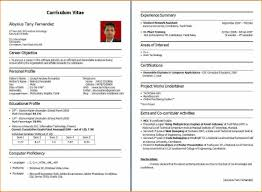 Ideal Resume Format Resume Sample For Fresher Bca Templates Resume Format