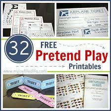 32 Free Pretend Play Printables My Joy Filled Life