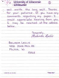 page cover letter essay by belinda leslie