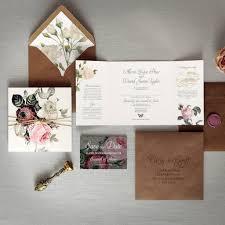 Wedding Invitation Folding English Garden Folding Wedding Invitation By Feel Good Wedding