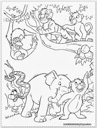 Small Picture Coloring Book Pages Jungle Animals Coloring Pages