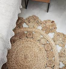 round braided seagrass rug for modern flooring decor