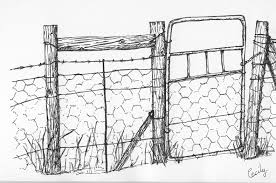 farm fence drawing. Gate Clipart Farm Gate. June Fence Drawing