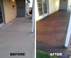 front porch stained concrete a
