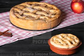 Kitchen Table With Apple Pies Traditional Baked Dessert Sweet