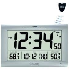 digital wall clocks wall clock with date wall clocks with temperature and date la large digital digital wall clocks