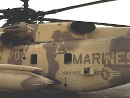 Marine helicopter with naked woman